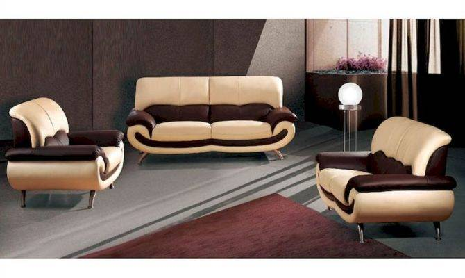 European Furniture Modern Two Tone Sofa Set