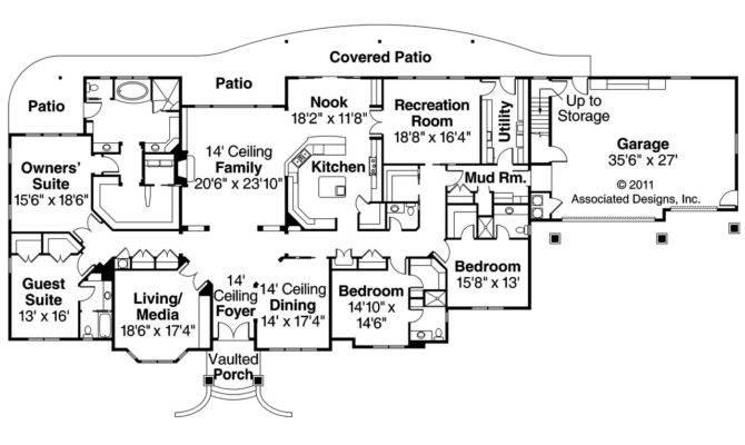 European House Plan Bentley Floor