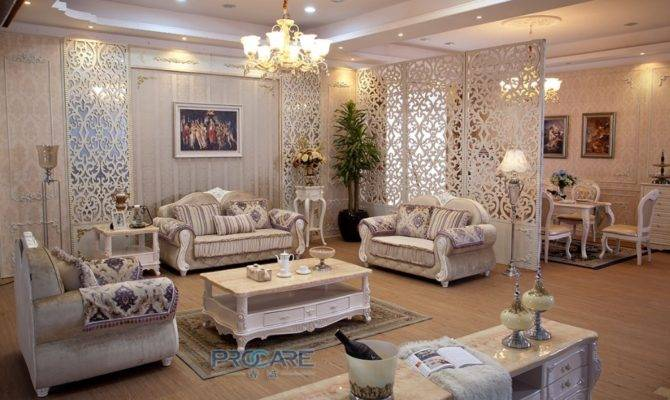 European Style Seater Fabric Armchair Sofa Set