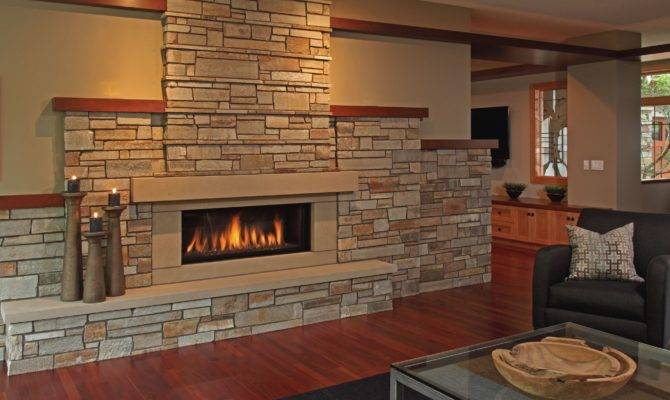 Everyday Solutions Stone Fireplaces Wood Accents Add