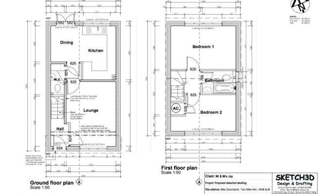 Example Bedroom Self Build House Design Plans Milton