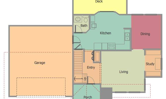 Example Floor Plan Home Draw Sample House Plans 44735