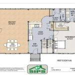 Example Open Concept Barn Home Plan Main Living Areas