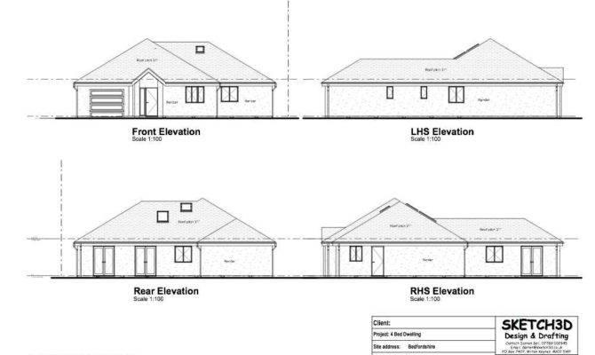 Example Self Build Bungalow Building Plans Bedfordshire