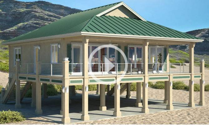Exceptional Beach House Plans Piers
