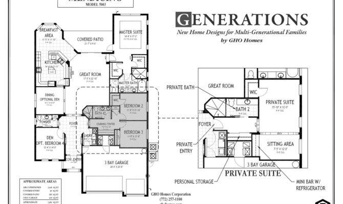 Exceptional Multigenerational House Plans Multi