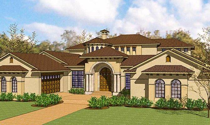 Exciting Courtyard Mediterranean Home Plan