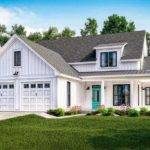 Exclusive Modern Farmhouse Plan Flexible Upstairs