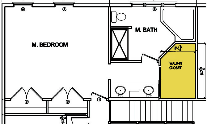 Existing Walk Closet Layout