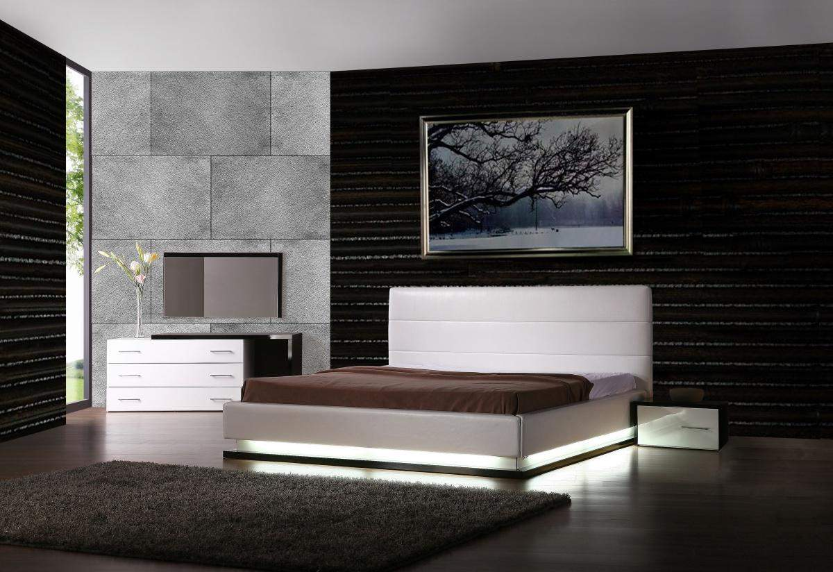 Exotic Leather Modern Contemporary Bedroom Sets Feat Light House Plans 153490