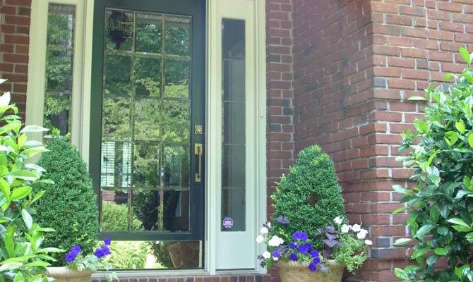 Exterior Charming Front Porch Decoration Using Yellow