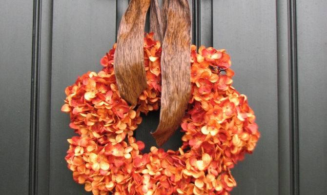 Exterior Cool Autumn Wreath Ideas Incredible