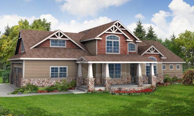 Exterior Craftsman House Designs Plan