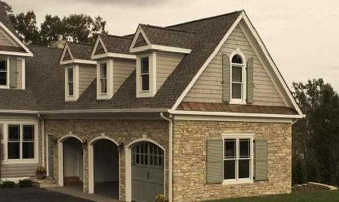 Exterior Houses Applying Stone Veneer Faux