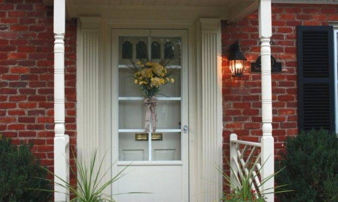 Exterior Interesting Small Front Porch Decoration Using