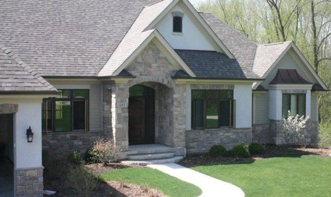 Exterior Stone Siding Stucco Traditional