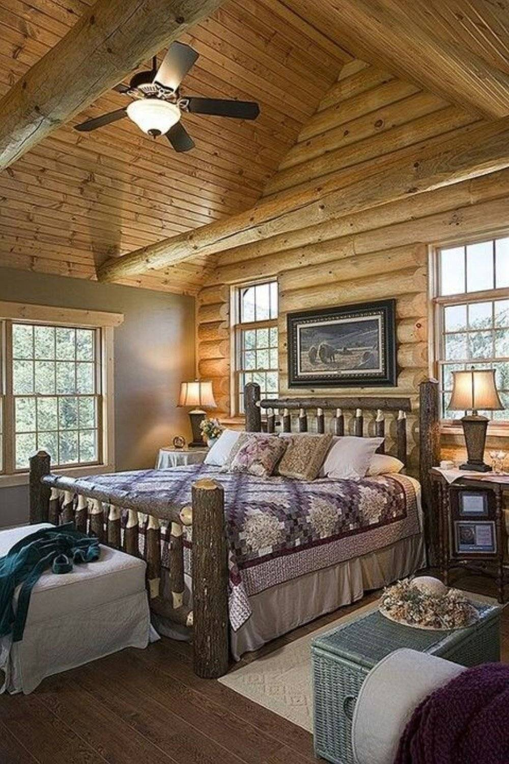 Extraordinary Rustic Log Home Bedrooms Style Estate House Plans 164199