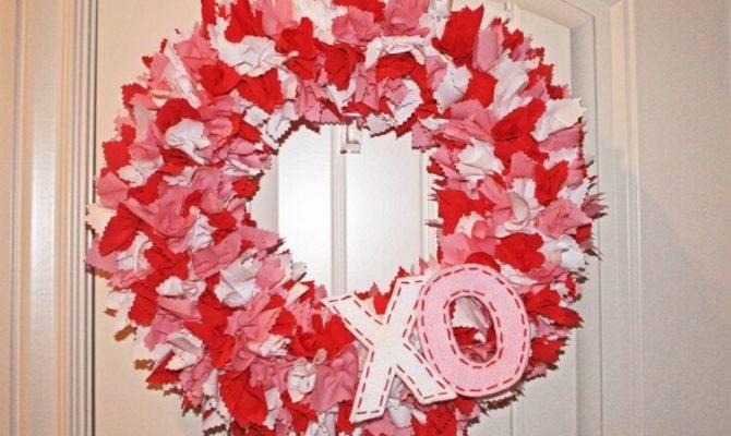 Fabric Valentine Day Wreath Che Said