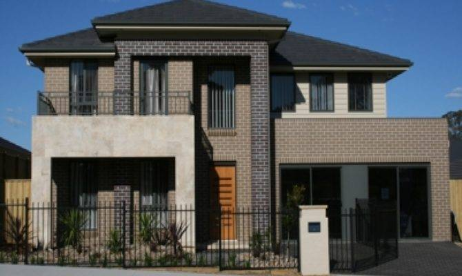 Face Brick House Designs Front Modern