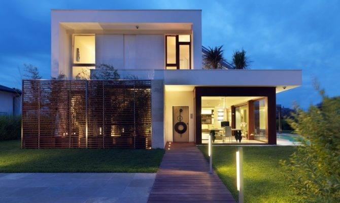 Fachadas Casas Modernas Sem Telhado Aparente