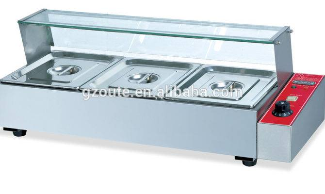 Factory Directly Sale Electric Bain Marie Food Warmer Drain Pipe