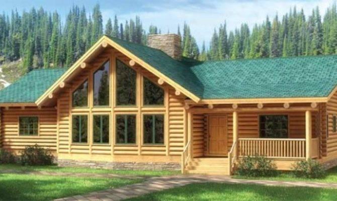 Fall River Log Home Plan Mywoodhome