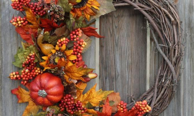 Fall Wreath Decor Front Door Wreaths Seasonal