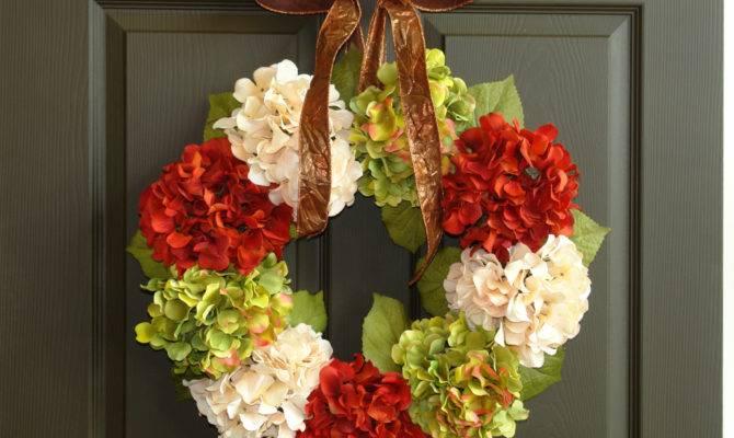 Fall Wreaths Wreath Hydrangea Front Door