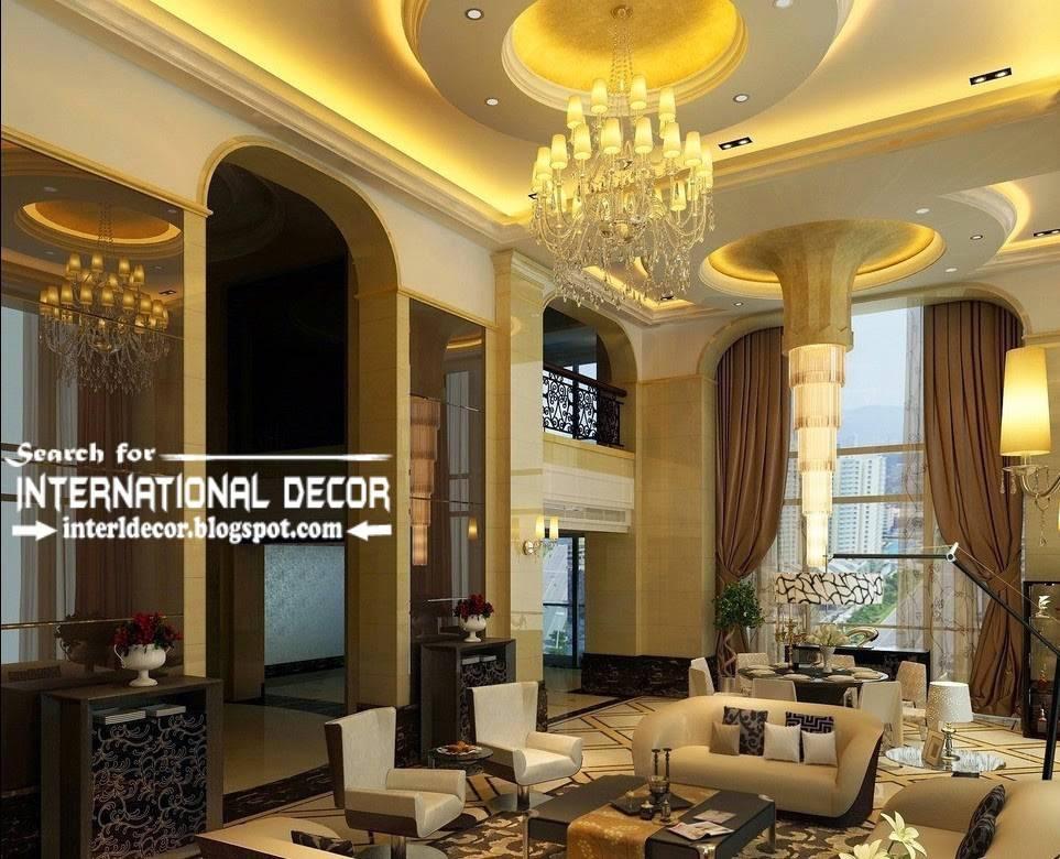 False Ceiling Designs Ideas Led Lighting Luxury Living Room House Plans 21797