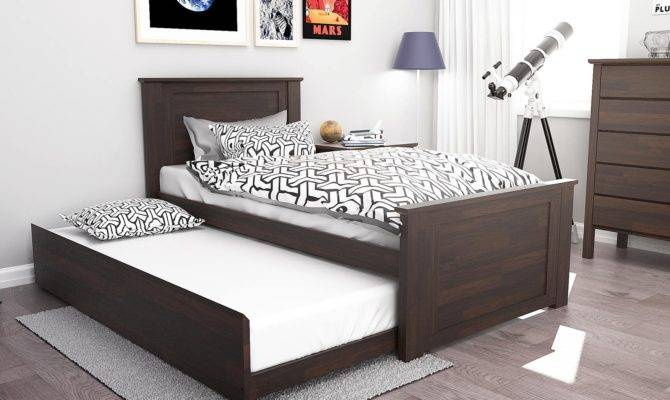 Fantastic Single Trundle Bed Hardwood Modern