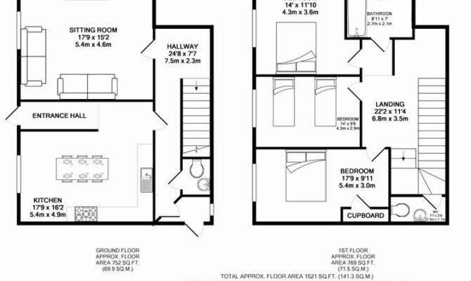 Farm Cottage West Luccombe Floor Plan