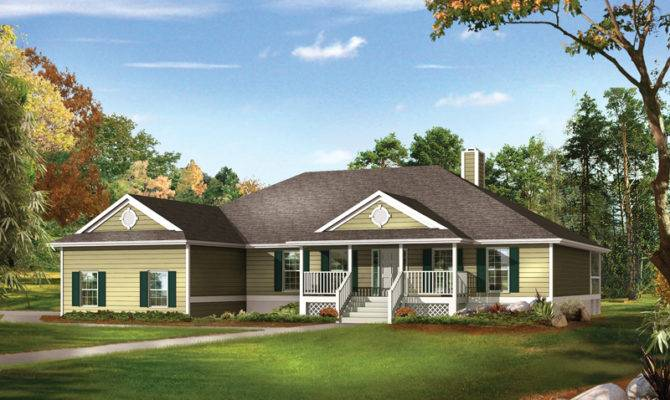 Farm Pond Country Ranch Home Plan House Plans