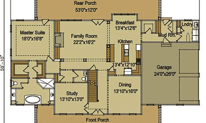 Farmhouse Architectural Plans Homes Floor