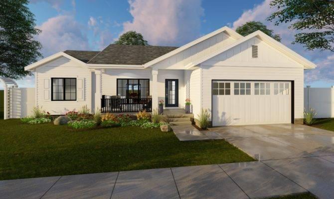 Farmhouse House Plan Bedrm Home
