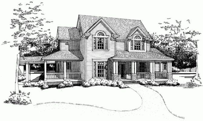 Farmhouse House Plan Deluxe Master Suite Square Feet