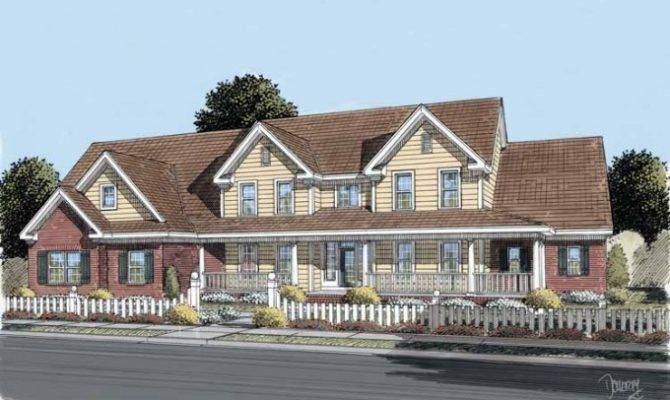 Farmhouse House Plan Spacious Great Front Porch