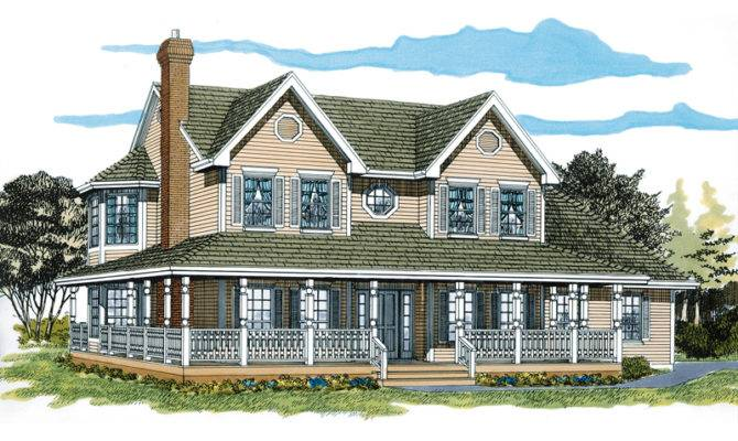Farmhouse Plans Southern House Traditional