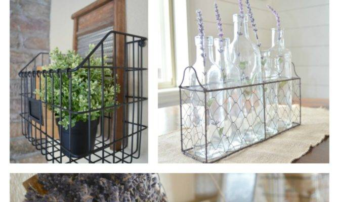 Farmhouse Style Decorating Wire Baskets Little