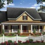 Farmhouse Style House Plan Beds Baths Exterior