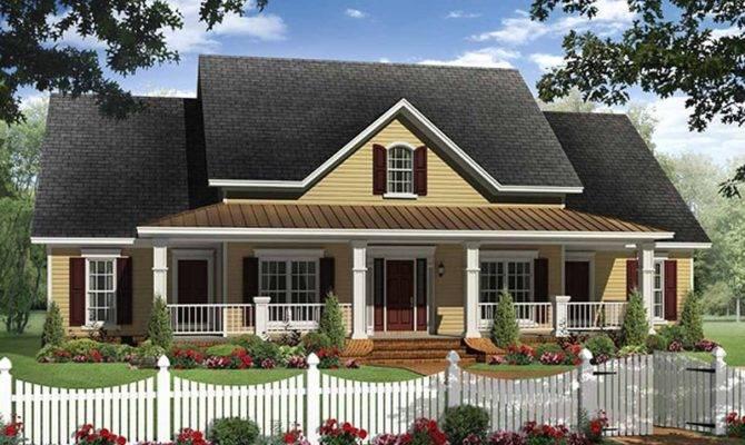 Farmhouse Style House Plan Beds Baths Exterior