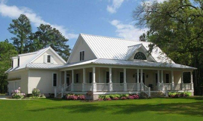 Farmhouse Wrap Around Porch More Dreamhome Dream House Country