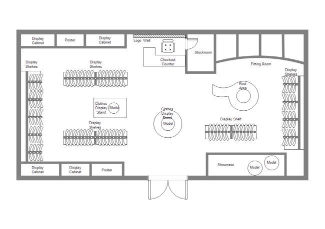 Fashion Shop Layout Templates House Plans 172760