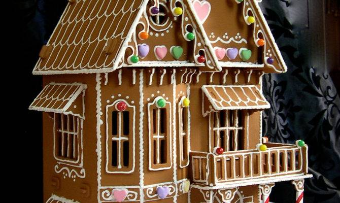 Faux Gingerbread House Victorian Style