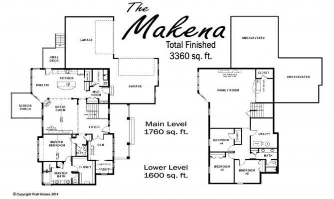 Featured Single Home Floor Plan Makena Pratt Homes