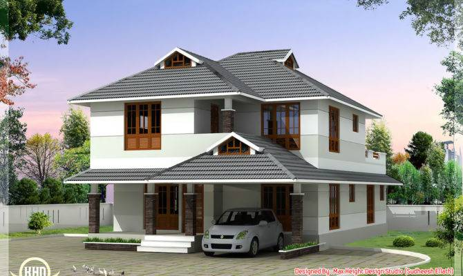 Feet Beautiful Bedroom House Plan Kerala Home