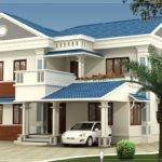 Feet Beautiful Villa Elevation Design Home Kerala Plans