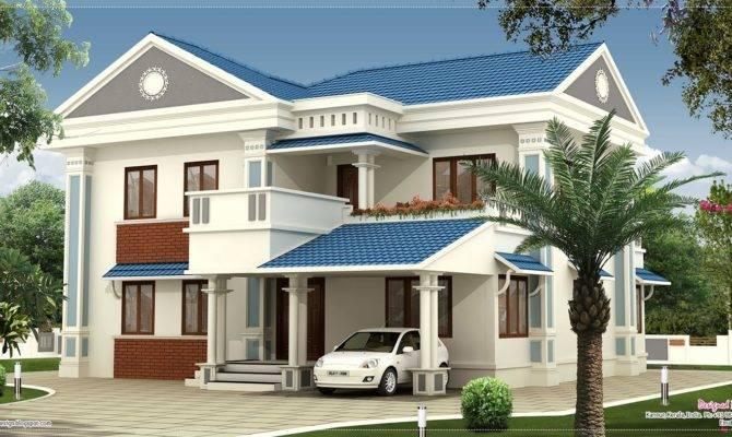 Feet Beautiful Villa Elevation Design Kerala