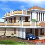 Feet Bedroom Double Storey House Kerala Home Design