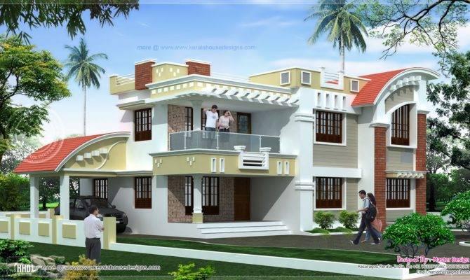 Feet Double Floor Home Exterior Kerala