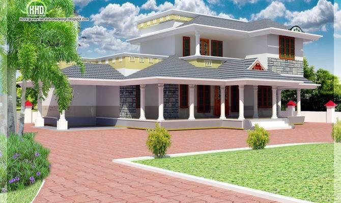 Feet Double Floor House Elevation Kerala Home